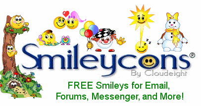 Free Smileys and Emoticons for Email, Web Mail, Forums and Blogs, Vista Compatible